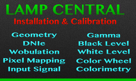 DLP TV Lamp Installation & Calibration