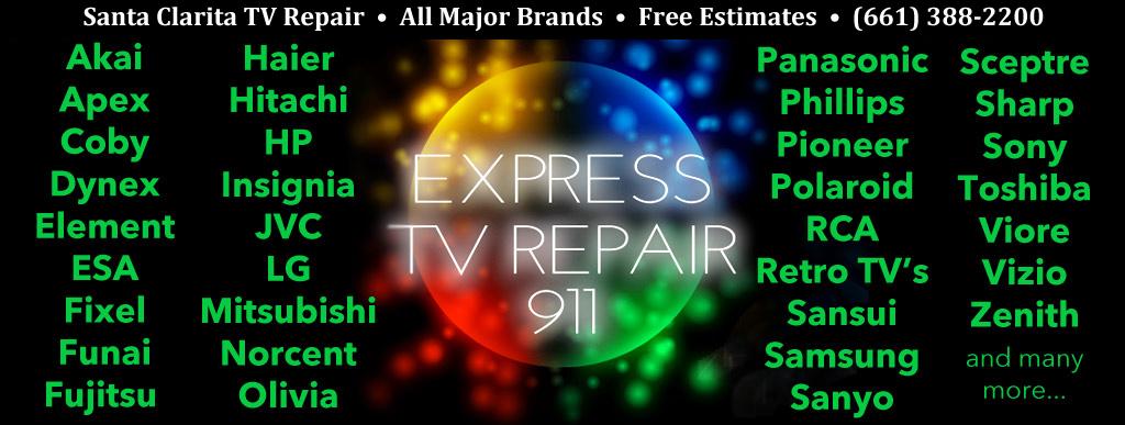 Santa Clarita TV Repair TV Models